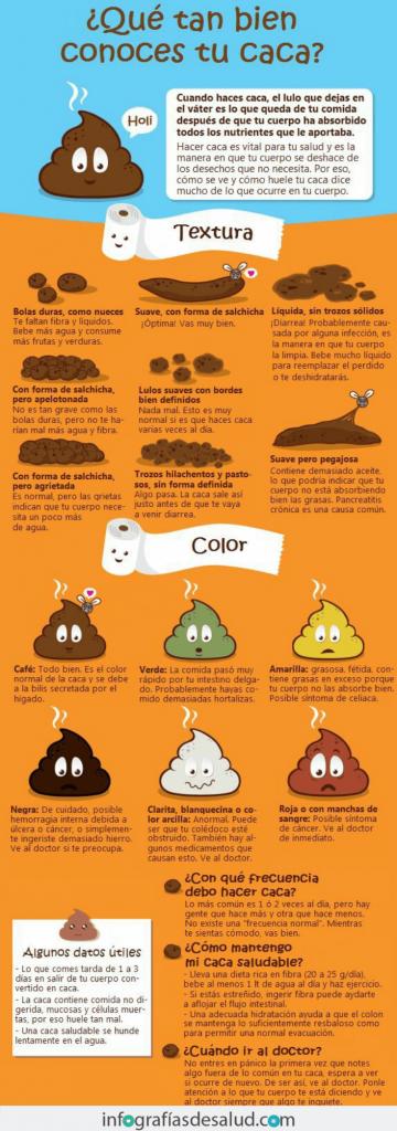 Infografia - Heces amarillas y blandas y otros tipos