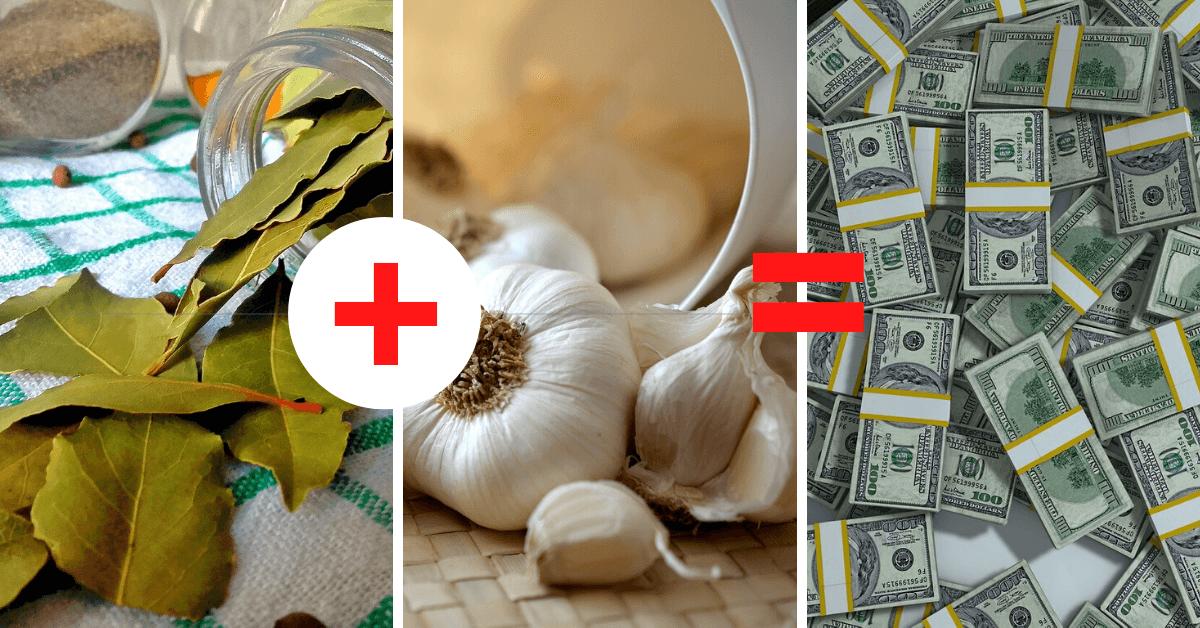 Ritual para el dinero laurel y ajos